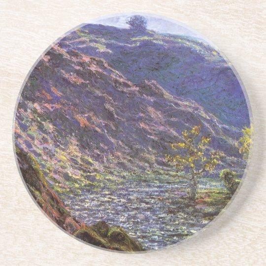 Petite Creuse, Sunlight by Claude Monet Coaster