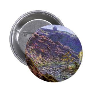 Petite Creuse, Sunlight by Claude Monet Pinback Button