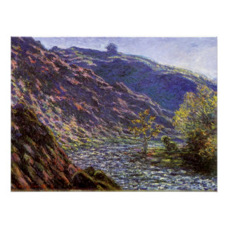 Petite Creuse, Sunlight by Claude Monet Poster