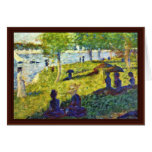Petite Esquisse By Seurat Georges Greeting Cards