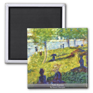 Petite Esquisse By Seurat Georges Refrigerator Magnets