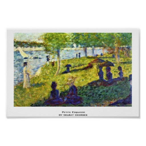 Petite Esquisse By Seurat Georges Poster