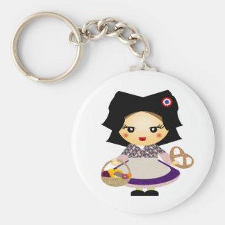 Petite fille alsacienne keychain