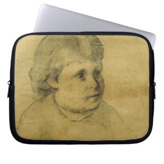 Petite fille (charcoal) computer sleeve