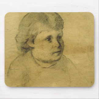 Petite fille (charcoal) mouse pad