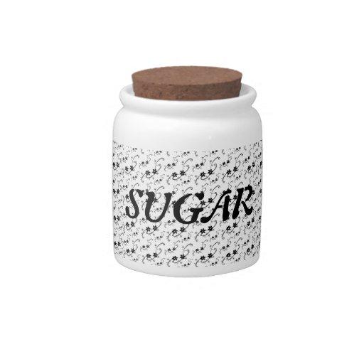 Petite Floral Sugar Jar Candy Jars
