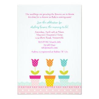 Petite Flower Pots Invitation