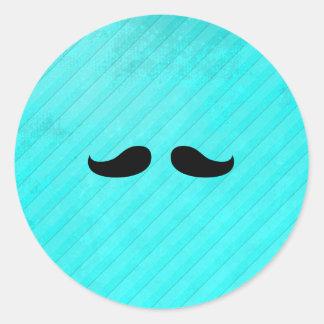Petite Handlebar Classic Round Sticker