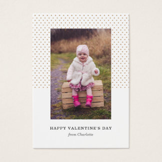 Petite Hearts Photo Valentine Business Card