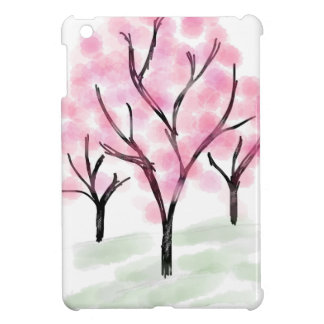 Petite Pink Flower Tree - Hand Drawn Sketch Cover For The iPad Mini
