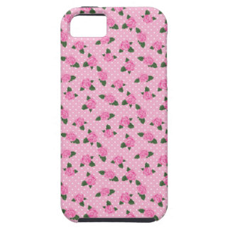 Petite pink roses and polka dots iphone 5S case