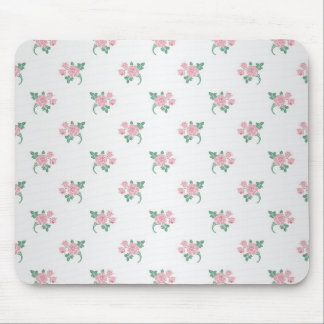 Petite Pink Roses Floral Pattern Mouse Pad