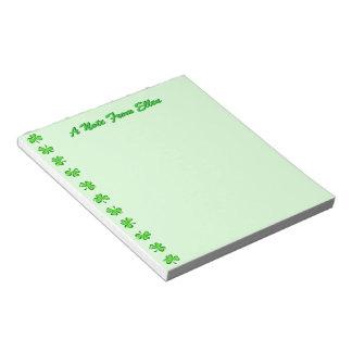 Petite Shamrocks Notepad