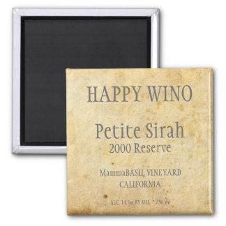 Petite Sirah Label Magnet
