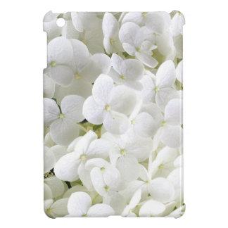 Petite White Hydrangea Flower iPad Mini Covers