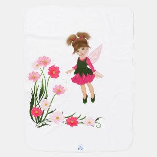 """PetitRose """"Little Flower Fairy"""" , Baby Blanket"""