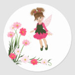 "PetitRose ""Little Flower Fairy"" , Round Sticker"