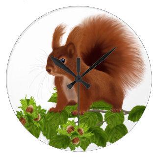 "PetitRose ""Squirrel on Hazelnut Twig"" , Clock"