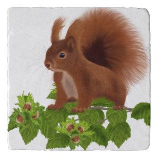 "PetitRose ""Squirrel on Hazelnut Twig"" , Trivet"