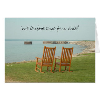 Petoskey Chairs (...time for a visit) Stationery Note Card