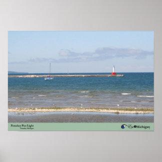 Petoskey Pier Light - Michigan Poster