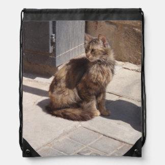 Petra de pelo largo del gato persa mochila