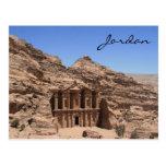 petra Jordania del monasterio Tarjeta Postal