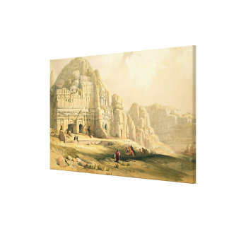 Petra, March 8th 1839, plate 96 from Volume III of Stretched Canvas Print