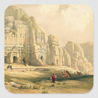 Petra, March 8th 1839, plate 96 from Volume III of Square Sticker