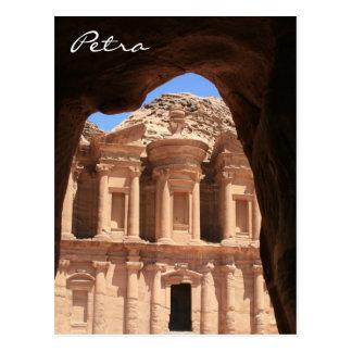 petra monastery archway postcard