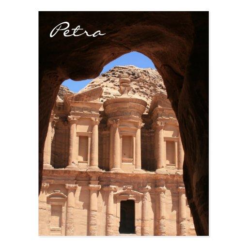 petra monastery archway postcards