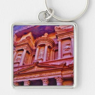 Petra Treasury Building Keychain