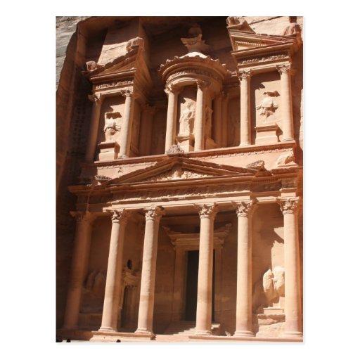 petra treasury sunny postcard