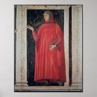 Petrarch   from the Villa Carducci series Poster