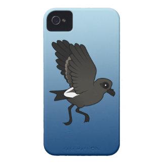 Petrel de la tormenta de la lixiviación (alboroto) iPhone 4 Case-Mate cobertura