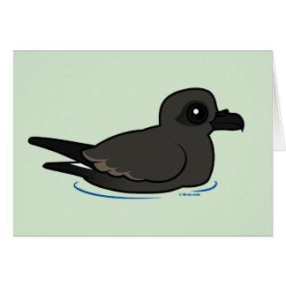 Petrel de la tormenta de la lixiviación (nadada) tarjeta de felicitación