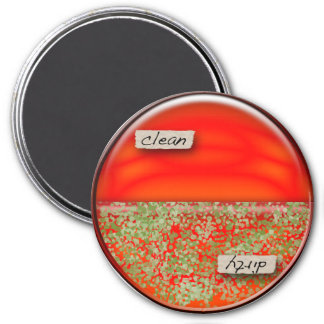 Petri Dish Clean / Dirty Dishwasher Magnet