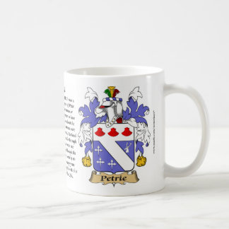 Petrie, the Origin, the Meaning and the Crest Coffee Mug