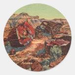 Petrified Forest Arizona Round Stickers