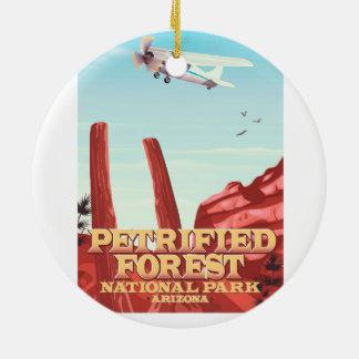 Petrified forest national park, Arizona. Ceramic Ornament