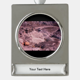 Petrified Forest National Park Silver Plated Banner Ornament