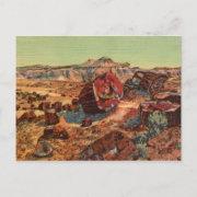 Petrified Forest Vintage Postcard