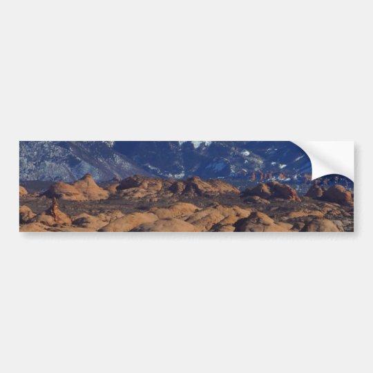 Petrified Sand Dunes At Arches National Park Bumper Sticker