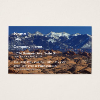 Petrified Sand Dunes At Arches National Park Business Card