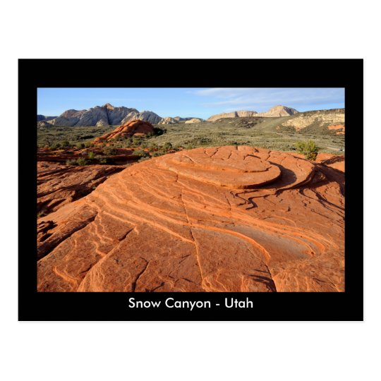 Petrified Sand Dunes, Snow Canyon, Utah Postcard