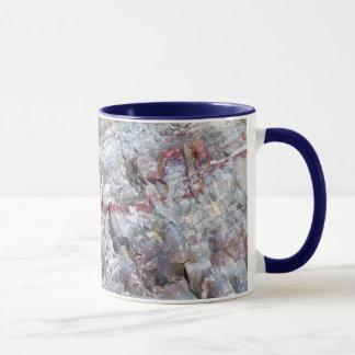 Petrified wood mug