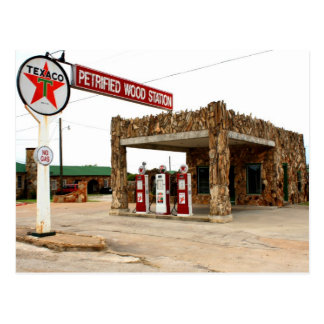 Petrified Wood Station, Decatur, Texas Post Card