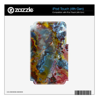 Petrified wood texture decal for iPod touch 4G
