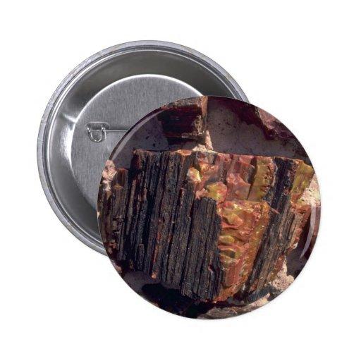 Petrified wood wall pinback buttons