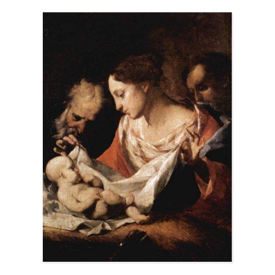 Petrini, Giuseppe Antonio Heilige Familie 1700-175 Postcard